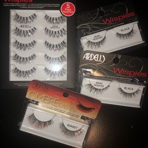 Lot of 8 pairs of Ardell Lashes Demi Wispies